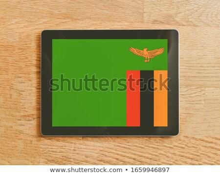 таблетка Замбия флаг изображение оказанный Сток-фото © tang90246