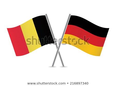 Duitsland België vlaggen puzzel geïsoleerd witte Stockfoto © Istanbul2009