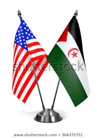 Arap · demokratik · cumhuriyet · bayrak · kuru · toprak - stok fotoğraf © tashatuvango