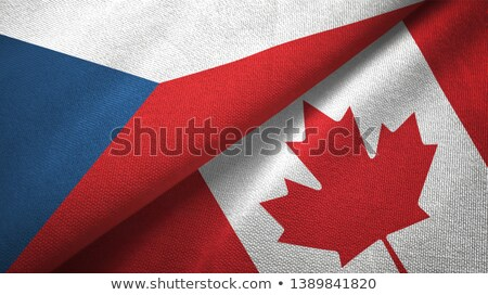 Canada and Czech Republic Flags Stock photo © Istanbul2009