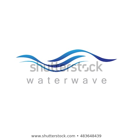 blue water wave flow icon logo vector stock photo © blaskorizov