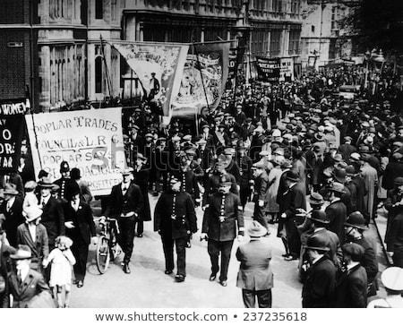 általános sztrájk illusztráció kommunikáció feliratok női Stock fotó © adrenalina