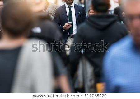 anonim · üzletember · kezek · ki · szürke · férfi - stock fotó © wavebreak_media