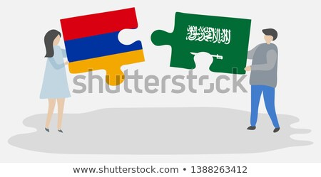 Saudi Arabia and Armenia Flags in puzzle Stock photo © Istanbul2009