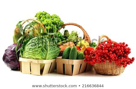 Close up of harvested corn in wicker basket Stock photo © stevanovicigor