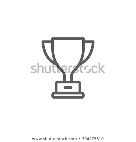 Trophäe Symbol Illustration weiß Sport Hintergrund Stock foto © get4net