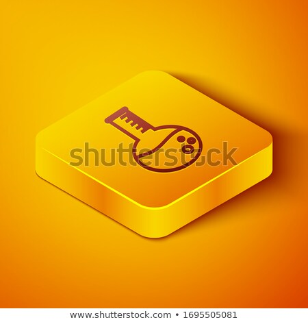 Conical Flask Yellow Vector Icon Button Stock photo © rizwanali3d
