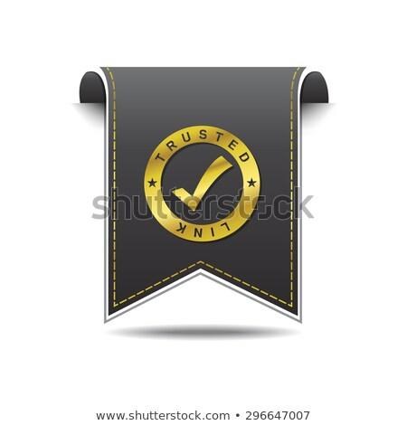 Trusted Link golden Vector Icon Design Stock photo © rizwanali3d