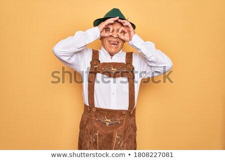 Gek humor grappig gebaar partij pak Stockfoto © lunamarina