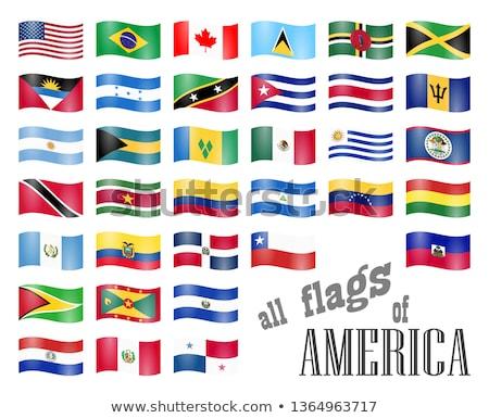 Бразилия Панама флагами головоломки изолированный белый Сток-фото © Istanbul2009