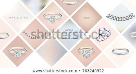 Jóias ilustração brincos pulseira anel beleza Foto stock © Morphart