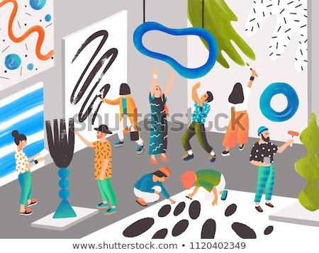 schepping · tekeningen · verschillend · tools · tekening · bouw - stockfoto © koldunov