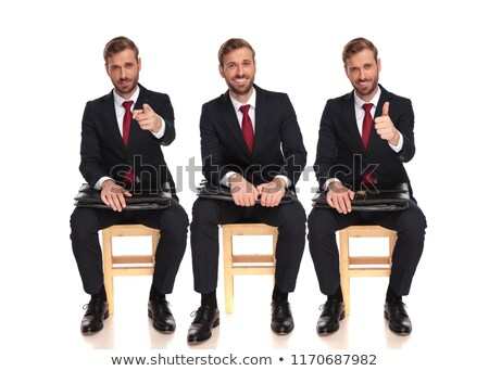 Three young businessmen show gesture ok Stock photo © Paha_L