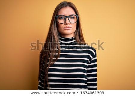 Vrouw laag sleutel monochromatisch portret Stockfoto © stevanovicigor