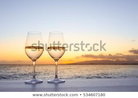 pair of wine glasses stock photo © imaster