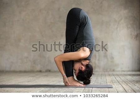 sport · lány · kanyar · előre · fitnessz · lányok - stock fotó © Paha_L