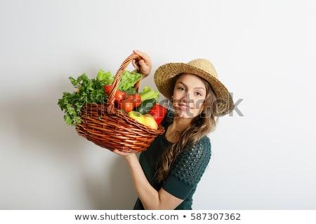 счастливым · корзины · полный · здоровое · питание - Сток-фото © vlad_star