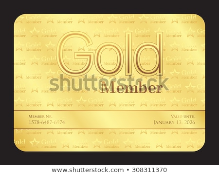 Gold member club card with small stars pattern Stock photo © liliwhite