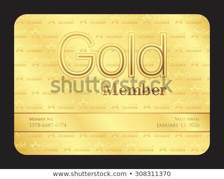 золото · vip · клуба · карт · член - Сток-фото © liliwhite