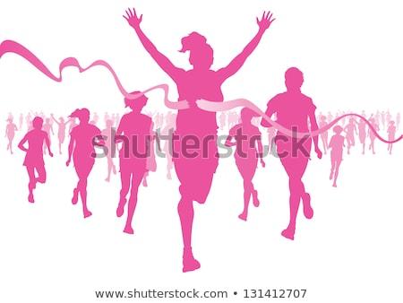 kobiet · walki · rak · piersi · ilustracja · muzyka · kobiet - zdjęcia stock © sognolucido