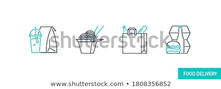 hamburger · lijn · icon · web · mobiele · infographics - stockfoto © RAStudio