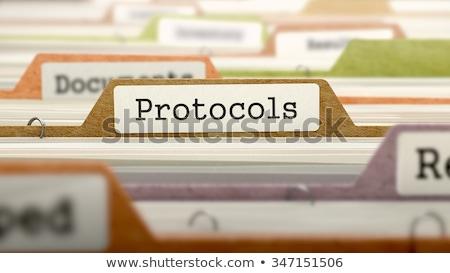 Protocols Concept on Folder Register. Stock photo © tashatuvango