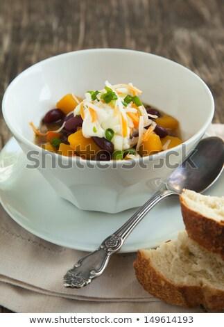 feijões · molho · tigela · comida · cor - foto stock © ozgur