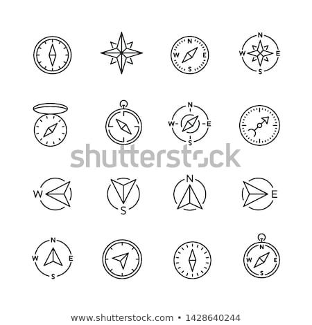 компас линия икона веб мобильных Инфографика Сток-фото © RAStudio