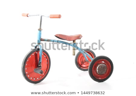 Vintage driewieler speelgoed oude communist tijdperk Stockfoto © tony4urban