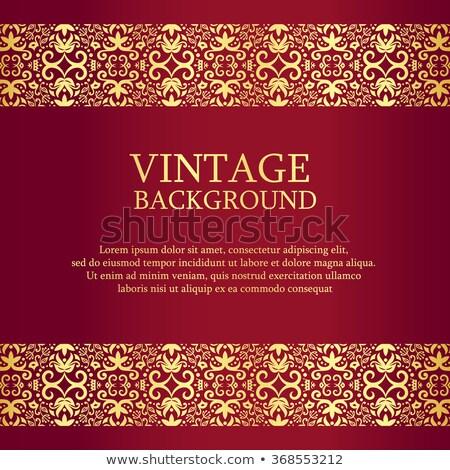 Vintage Rood goud kant top beneden Stockfoto © liliwhite
