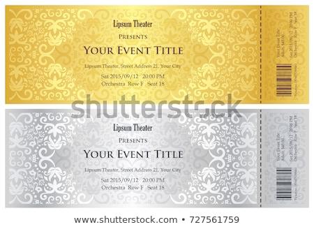 Luxo dourado prata teatro bilhete vintage Foto stock © liliwhite