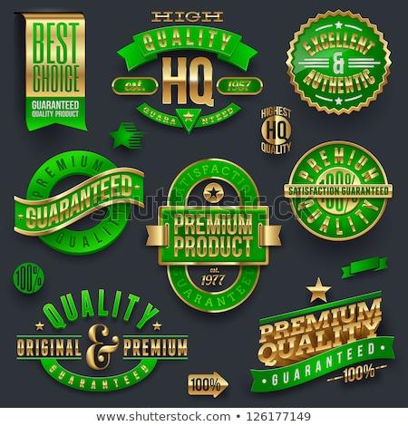 Véritable vert sceau vecteur icône Photo stock © rizwanali3d