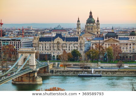 Overview of Budapest with St Stephen (St Istvan) Basilica Stock photo © AndreyKr