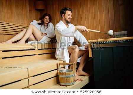 пару оздоровительный Spa пар ванны женщину Сток-фото © Kzenon