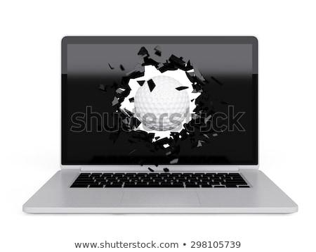 golf · topu · bilgisayar · ekranı · teknoloji · golf · ekran · patlama - stok fotoğraf © teerawit