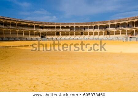aréna · Spanyolország · város · sport · utazás · homok - stock fotó © vichie81