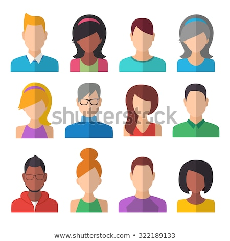 vector set of colorful flat people icons stock photo © freesoulproduction