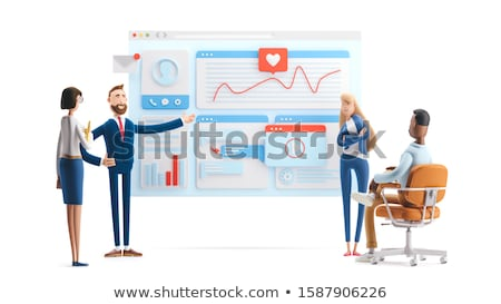 3D Character Build Concept Stock photo © make