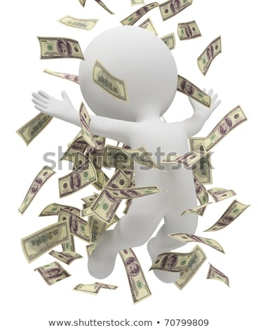 3d small people   money rain stock photo © anatolym