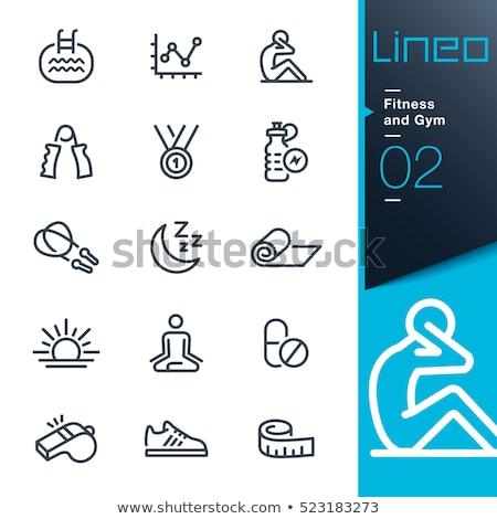 gymnast with tape line icon stock photo © rastudio