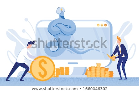 Empresário gênio ilustração feliz projeto fundo Foto stock © get4net