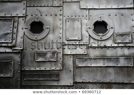 grasa · manchado · textura · de · metal · metal · textura - foto stock © stevanovicigor