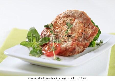 マリネ 豚肉 ブロッコリー スライス 調理済みの ストックフォト © Digifoodstock