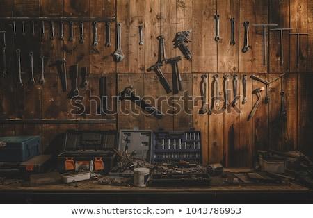 vieux · outil · plateau · mur · outils · suspendu - photo stock © stoonn