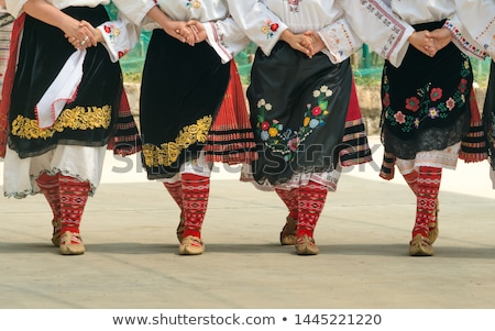 Women from Bulgaria at folk dance festival Stock photo © jordanrusev