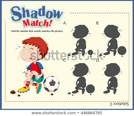 Játék sablon összeillő sebesült fiú illusztráció Stock fotó © bluering