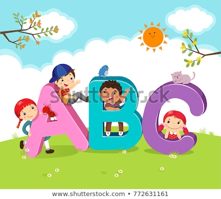 English alphabets and children in class Stock photo © bluering