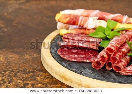 Prato queijo salame verão carne cozinhar Foto stock © elxeneize