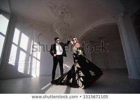 couple of owls on pumpkin stock photo © adrenalina