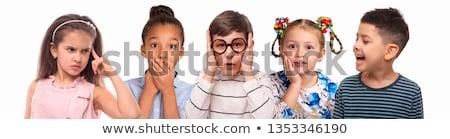 молодые · мальчики · лице · белый · глазах · фон - Сток-фото © bluering